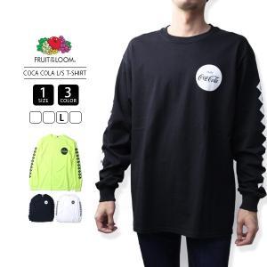 フルーツオブザルーム ロンT コカコーラ コラボ Tシャツ 長袖 FRUIT OF THE LOOM COCA COLA L/S PRINT T-SHIRT 923-513CC26|jeans-yamato
