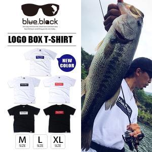 blue.black Tシャツ ブルーブラック Tシャツ BOX LOGO T-SHIRT メンズ 半袖 プリント バス釣り フィッシング アウトドア BBT-001|jeans-yamato