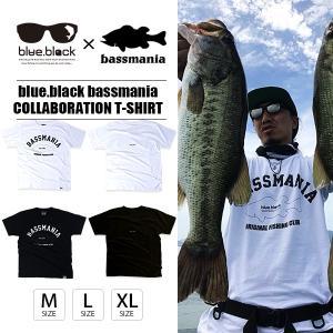 blue.black×bassmania Tシャツ ブルーブラック×バスマニア Tシャツ LOGO T-SHIRT メンズ 半袖 バス釣り フィッシング BBT-002|jeans-yamato