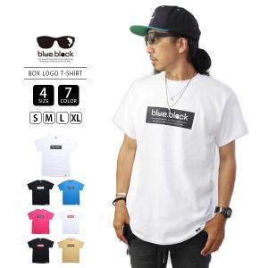 ネコポス対応 blue.black Tシャツ ブルーブラック Tシャツ BOX LOGO PRINT S/S T-SHIRT 2 メンズ 半袖 プリント バス釣り フィッシング BBT-005|jeans-yamato