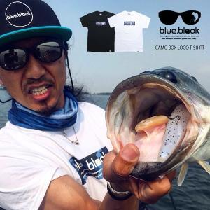 blue.black Tシャツ ブルーブラック Tシャツ CAMO BOX LOGO PRINT S/S T-SHIRT メンズ 半袖 プリント バス釣り フィッシング BBT-006|jeans-yamato