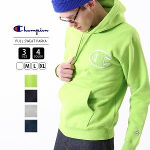 チャンピオン パーカー メンズ Champion パーカー スウェット ビッグロゴ ACTION S PULL SWEAT PARKA 19FW C3-L119|jeans-yamato