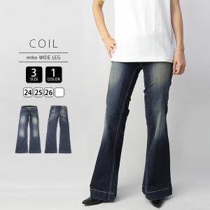 COIL ジーンズ レディース miko WIDE LEG ジーンズ デニムパンツ 7270300|jeans-yamato