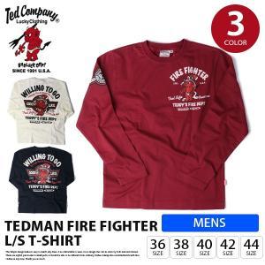 テッドマン Tシャツ TEDMAN Tシャツ 長袖 メンズ トップス FIRE FIGHTER T-SHIRT エフ商会 TDLS-298|jeans-yamato