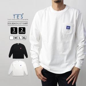 エンドレスサマー Tシャツ 長袖 TES Tシャツ ロンT TES DOG BEACH LONG SLEEVE T-SHIRT サーフ 9774318 jeans-yamato