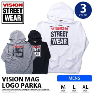 VISION パーカー VISION STREET WEAR ロゴパーカー ヴィジョン メンズ プル...