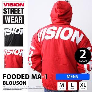 VISION STREET WEAR アウター VISION ナイロンジャケット ヴィジョンストリートウェア フード脱着ブルゾン 8723108 jeans-yamato