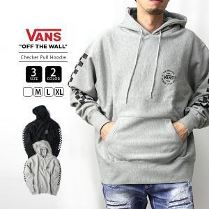VANS パーカー メンズ レディース 男女兼用 バンズ スウェット ヴァンズ Checker Pull Hoodie VA19FW-MC03|jeans-yamato