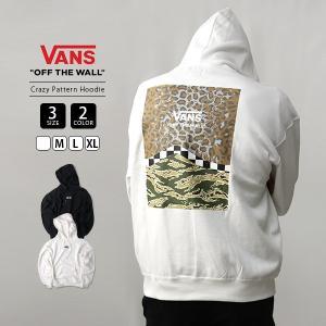 VANS パーカー メンズ レディース 男女兼用 バンズ スウェット ヴァンズ Crazy Pattern Pull Over Hoodie VA19FW-MC09|jeans-yamato