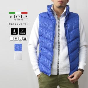 VIOLA RUMORE ベスト ヴィオラルモーレ 中綿ベスト アウター 中綿フルジップベスト イタリア イタリアン ビター系 ラグジュアリー メンズ 01100|jeans-yamato
