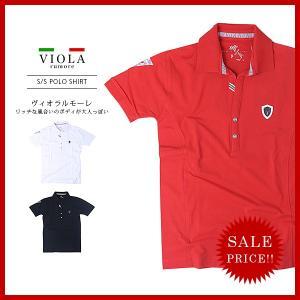 VIOLA RUMORE ヴィオラルモア メンズ トップス ポロ シャツ ラインストーン 迷彩 カモフラージュ ロゴ A81310|jeans-yamato