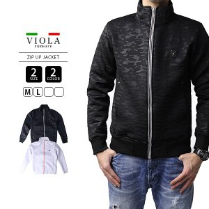 VIOLA RUMORE エンボスジャケット ヴィオラルモーレ ジップアップジャケット ボンディング 総柄 イタリア ビター系 BITTER K91132|jeans-yamato