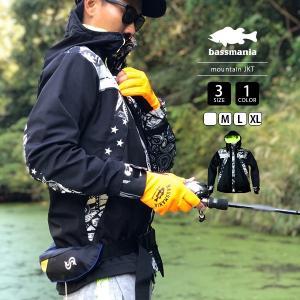 バスマニア マウンテンパーカー bassmania マウンテンジャケット ORIGINAL PATTERN MOUNTAIN JKT TYPE A バス釣り アウトドア バスフィッシング BJM06|jeans-yamato