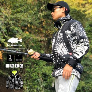 バスマニア マウンテンパーカー bassmania マウンテンジャケット ORIGINAL PATTERN MOUNTAIN JKT TYPE B バス釣り アウトドア バスフィッシング BJM07|jeans-yamato