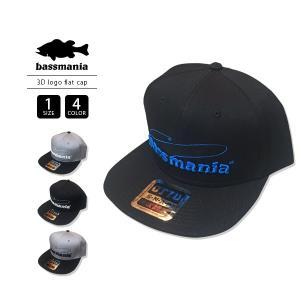 バスマニア キャップ 帽子 bassmania キャップ 帽子 3D LOGO FLAT CAP BMCP03|jeans-yamato
