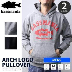 bassmania パーカー バスマニア パーカー プルオーバー Arch Logo ブラックバス バスフィッシング バス釣り アウトドア BMPK05|jeans-yamato
