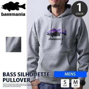 bassmania パーカー バスマニア パーカー プルオーバー bass silhouette ブラックバス バスフィッシング バス釣り アウトドア BMPK09|jeans-yamato