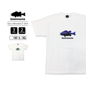 bassmania Tシャツ バスマニア Tシャツ BASS SILHOUETTE T-SHIRT ロゴ メンズ 半袖 プリント バス釣り フィッシング アウトドア BMT01|jeans-yamato