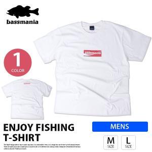 bassmania Tシャツ バスマニア Tシャツ ボックス ロゴ T-SHIRT メンズ 半袖 プリント バス釣り フィッシング アウトドア BMT07|jeans-yamato