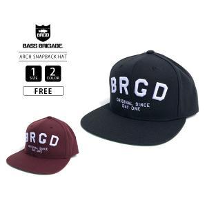 バスブリゲード キャップ BASS BRIGADE 帽子 スナップバック ロゴ刺繍 BRGD ARCH SNAPBACK HAT BAH01 jeans-yamato