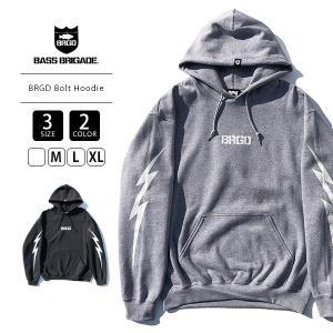 バスブリゲード パーカー BASS BRIGADE パーカー スウェット BRGD Bolt Hoodie バスフィッシング バス釣り BBHD01 jeans-yamato