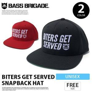 バスブリゲード キャップ BASS BRIGADE キャップ 帽子 スナップバック ストレート ロゴ 刺繍 ベースボールキャップ BITERS GET SERVED SNAPBACK HAT BGH01 jeans-yamato