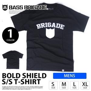 BASS BRIGADE バスブリゲード BOLD SHIELD TEE ロゴ Tシャツ 半袖 プリント S/S バス釣り トップス メンズ  BLDST01|jeans-yamato