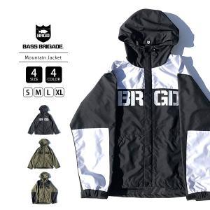 BASS BRIGADE マウンテンジャケット アウター メンズ バスブリゲード マウンテンパーカー BRGD Logo Mountain Jacket ブラックバス バス釣り BLMJ01 jeans-yamato