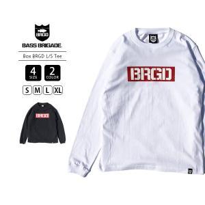 バスブリゲード Tシャツ BASS BRIGADE Tシャツ 長袖 ロンT メンズ BOX BRGD L/S TEE バス釣り ブラックバス アウトドア BXLT101|jeans-yamato
