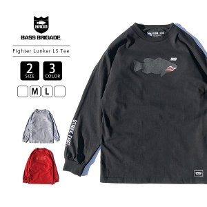 バスブリゲード Tシャツ BASS BRIGADE Tシャツ ロンT 長袖 Fighter Lunker LS Tee バス釣り ブラックバス アウトドア FGHTRLT101 jeans-yamato