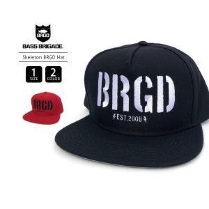 バスブリゲード キャップ BASS BRIGADE キャップ Skeleton BRGD Snapback Hat バスフィッシング バス釣り ブラックバス アウトドア SBSH01|jeans-yamato