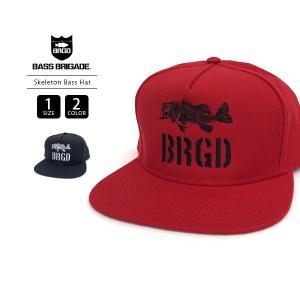バスブリゲード キャップ BASS BRIGADE キャップ Skeleton Bass Snapback Hat バスフィッシング バス釣り ブラックバス アウトドア SBSH02|jeans-yamato