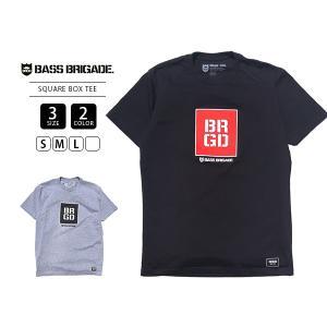 バスブリゲード Tシャツ BASS BRIGADE Tシャツ 半袖 メンズ SQUARE BOX TEE バスフィッシング バス釣り ブラックバス アウトドア SQBOXT1|jeans-yamato