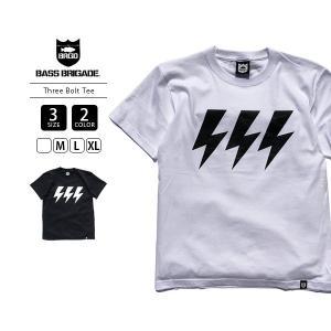 バスブリゲード Tシャツ THREE BOLT TEE Tシャツ 半袖 メンズ バスフィッシング バス釣り ブラックバス アウトドア TBT01|jeans-yamato