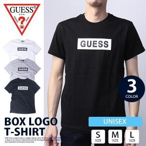 GUESS Tシャツ メンズ レディース 新作 ゲス Tシャツ メンズ レディース GUESS BOX LOGO T-SHIRT MH2K9414|jeans-yamato