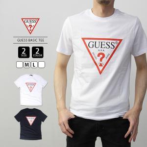 GUESS Tシャツ メンズ レディース ゲス Tシャツ メンズ レディース トライアングルロゴ半袖Tシャツ MJ2K9406|jeans-yamato