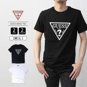 GUESS Tシャツ メンズ レディース ゲス Tシャツ メンズ レディース ラバープリントロゴ半袖Tシャツ MJ2K9406|jeans-yamato