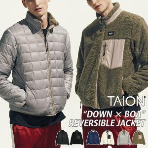 TAION ダウン メンズ ボアリバーシブルダウンジャケット タイオン ダウンジャケット アウター 防寒着 TAION-R102MB|jeans-yamato