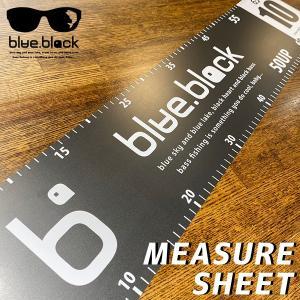 blue.black メジャーシート ブルーブラック メジャーシート ブラックバス バスフィッシング バス釣り アクセサリー 計測 ランカー BB-74X15|jeans-yamato