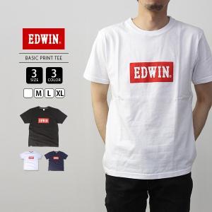 エドウィン EDWIN Tシャツ 半袖 プリント BASIC PRINT TEE 定番ロゴ ET5680-5|jeans-yamato
