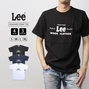 Lee Tシャツ 半袖 リー Tシャツ 半袖 STANDARD PRINT TEE カットソー トップス LT2527-2|jeans-yamato
