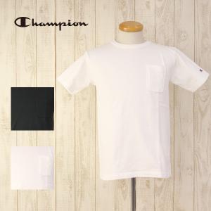 チャンピオン Tシャツ Champion Tシャツ T1011 胸 ポケット US コットン ヘビー ウェイト ティー テン イレブン 16SS MADE in USA C5-B303A jeans-yamato