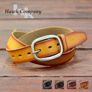 Hawk Company ホークカンパニー 全4色 本革 レザー ベルト グラデーション バックル フリー サイズ 310|jeans-yamato