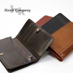 Hawk Company ホークカンパニー 本革 レザー ロングウォレット 二つ折 財布 メンズ レディーズ 7220|jeans-yamato
