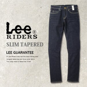 裾直し無料 Lee リー EURO RIDERS ユーロ ライダース ワンウォッシュ スリム テーパード スキニー デニム ジーンズ パンツ メンズ LM0813-100|jeans-yamato