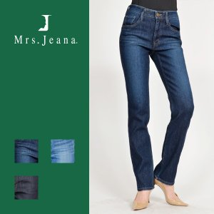 Mrs.Jeana ミセスジーナ 美ストレッチ 二重織り キレイが戻る デニム ジーンズ レギュラーストレート 股上深め レディース MJ-4272|jeans-yamato