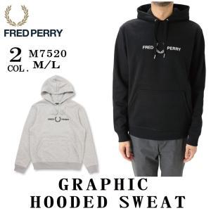 FRED PERRY フレッドペリー M7520 GRAPHIC HOODED SWEAT 裏起毛 ...