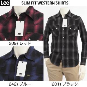5%OFF=Lee LT0582 フランネルウエスタンチェックシャツ スリムフィット 長袖シャツ