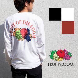 【FRUIT OF THE LOOM フルーツオブザルーム】オールドフルーツプリントクルーネックL/S Tシャツ 023-FL6|jeansstation