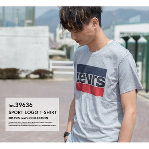 【SALE!!】【Levi's リーバイス】Levi's SPORT LOGO TEE ボックスロゴ Tシャツ 39636-00-030/39636-0002|jeansstation|03
